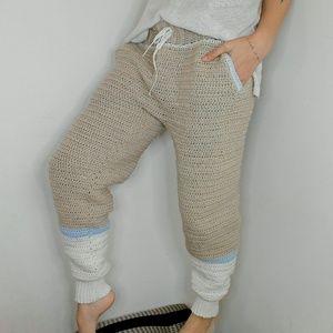Pants - Crochet sweatpants/joggers